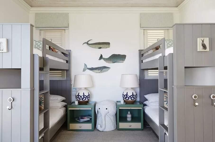 George, Charlotte et Louis ont certainement posé bagages dans cette chambre à lits superposés