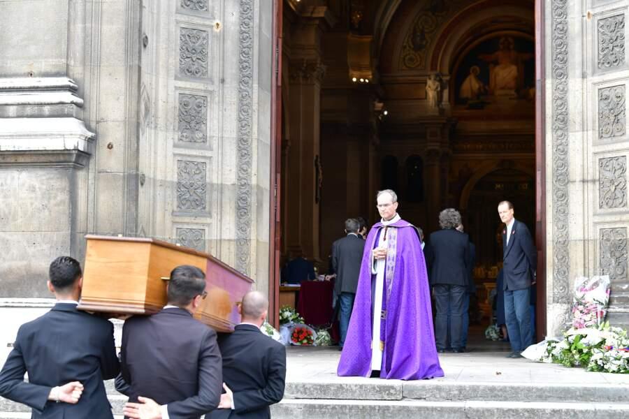 Les  obsèques ducomédien Jean Piat en l'église Saint François-Xavier à Paris le 21 septembre 2018