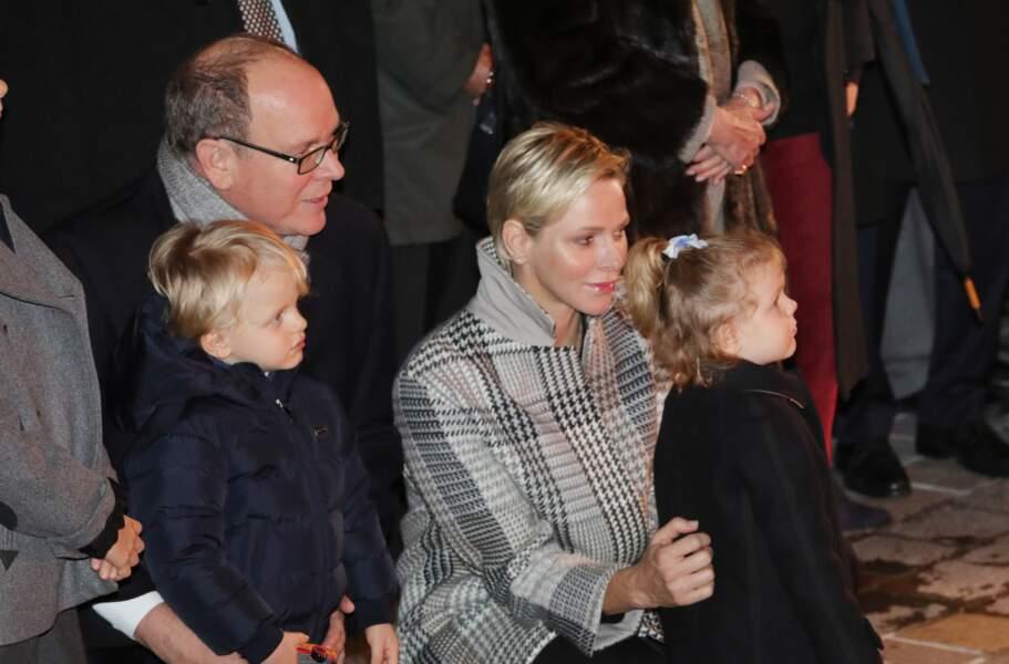 Charlene, Albert de Monaco, et leurs enfants à célèbrent la Sainte Dévote, Sainte patronne de Monaco