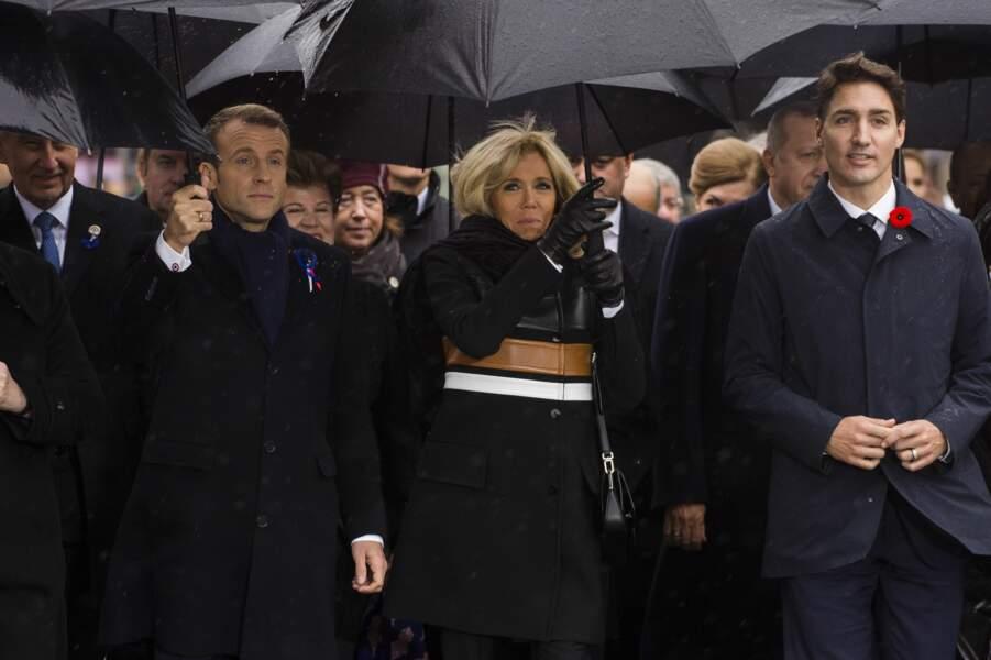 Ils ont assisté à la cérémonie du Centenaire de l'Armistice de la Première Guerre Mondiale.