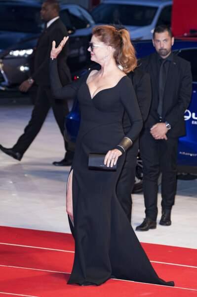 Pour sa mise en pli, l'actrice a opté pour une queue-de-cheval
