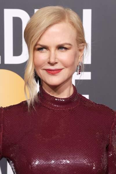 Nicole Kidman canon avec la mèche sur le côté
