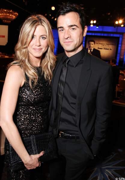 En octobre 2011, Justin et Jen réunis pour la remise des prix de la Cinémathèque, à l'hôtel Beverly
