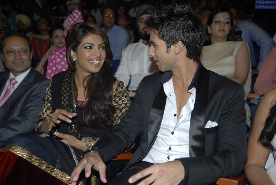 Priyanka Chopra et Shahid Kapoor en 2009 lors des Rajiv Gandhi Awards à Mumbai