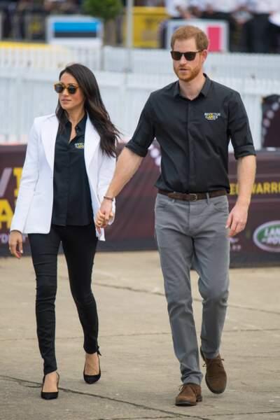 """Meghan Markle et le prince Harry au """"Jaguar Land Rover Challenge"""" en ouverture des Invictus Games le 20 octobre"""