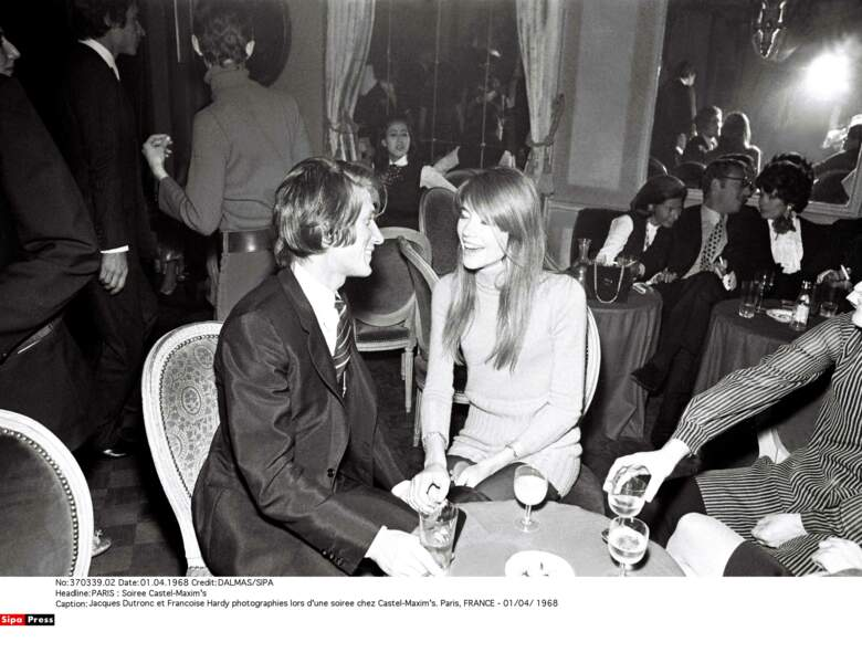 Les deux amoureux en soirée chez Castel-Maxim's, en avril 1968.