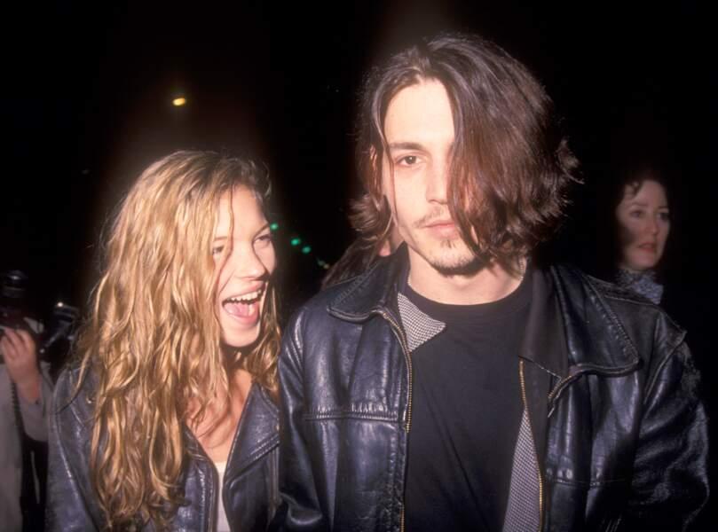 Kate Moss et Johnny Depp à Los Angeles (1989)