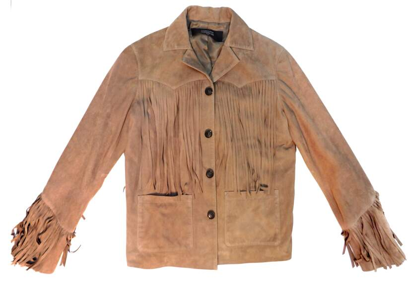 Western, veste à franges en cuir Garçons Infidèles, 1 200 € (garconsinfideles.com)