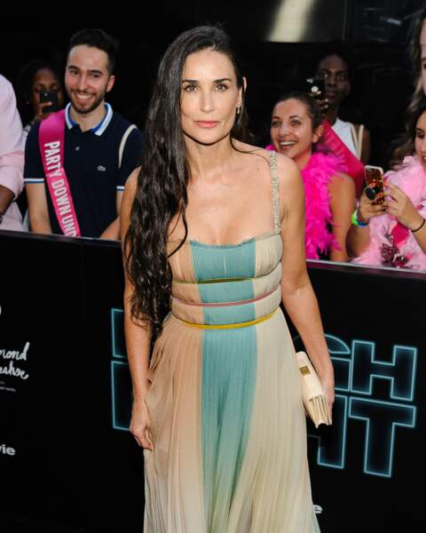 """Demi Moore (56 ans), à la première du film """"Rough Night"""" à New York, en 2017"""