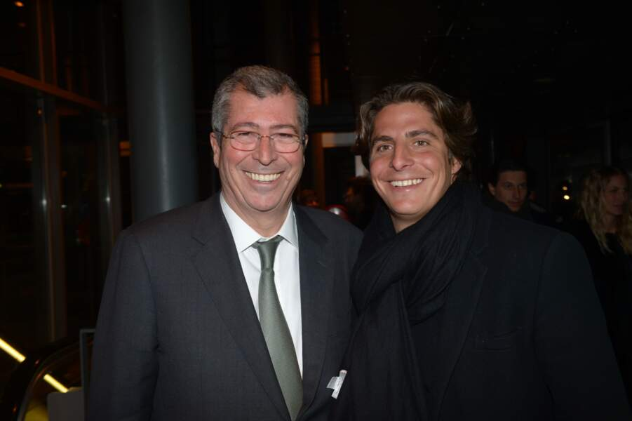 """Patrick Balkany et son fils Alexandre Balkany lors de l'avant-première du film """" Vive la France """""""