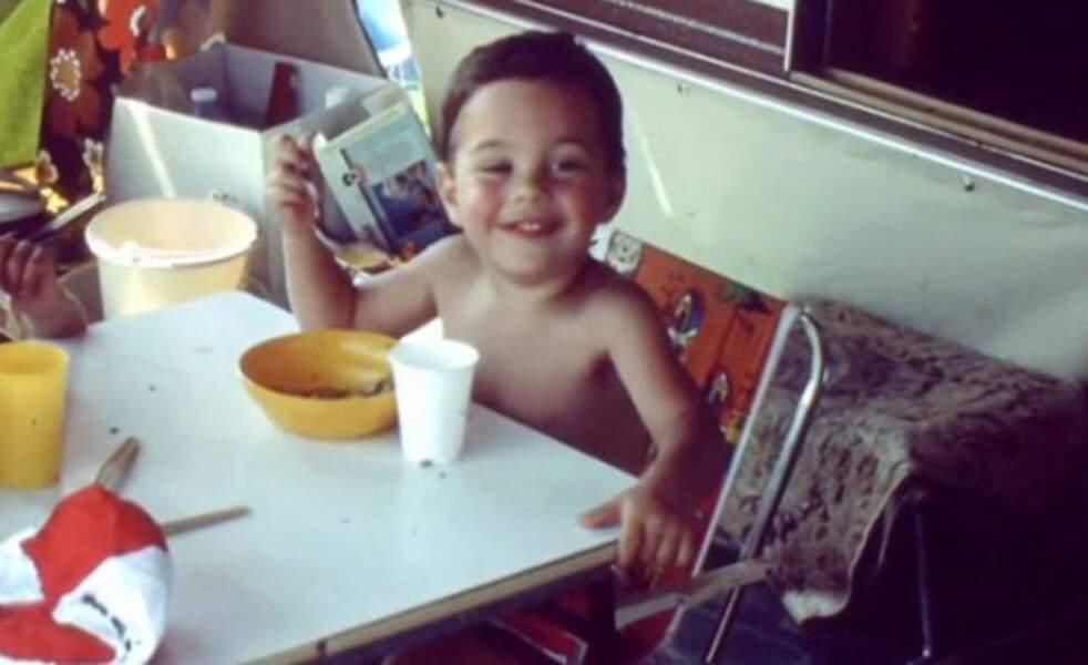 Grégory Lemarchal enfant en vacances