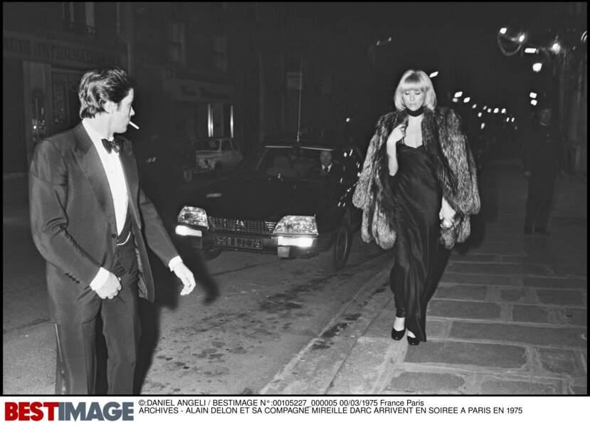 Alain Delon et Mireille Darc en 1977