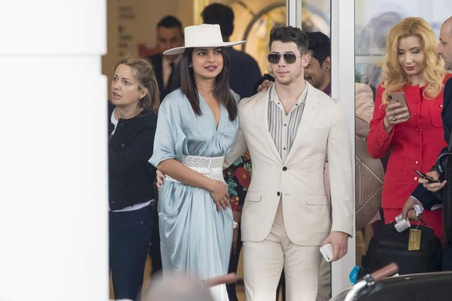 Nick Jonas et sa femme Priyanka Chopra au Festival de Cannes ce vendredi 17 mai