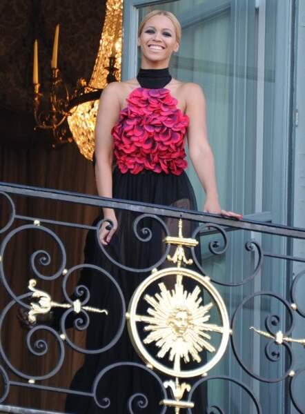 Beyoncé au balcon du Ritz