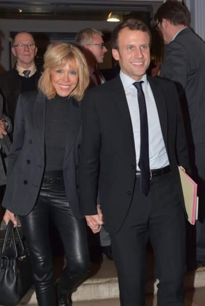 Le couple Macron à Amiens, le 25 novembre 2016.
