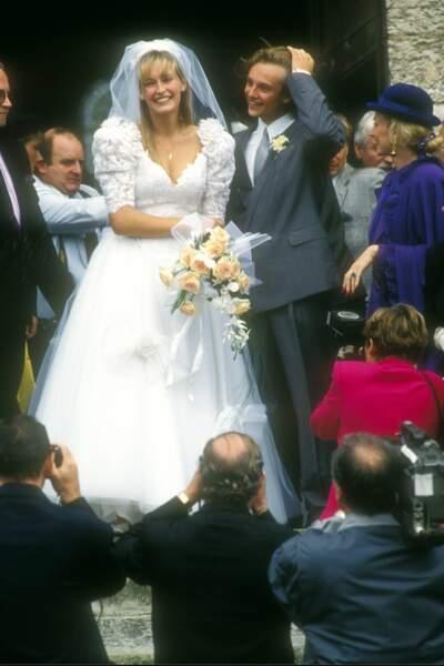 David Hallyday et Estelle Lefébure avaient 23 ans lors de leur mariage en 1989