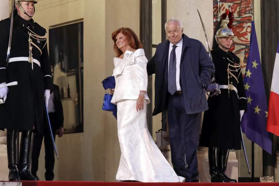 Alain Mérieux et sa femme arrivent à l'Élysée pour le dîner d'État organisé en l'honneur du président chinois