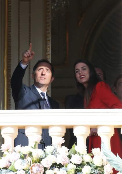 Gad Elmaleh et sa compagne Charlotte Casiraghi au palais princier de Monaco en janvier 2015