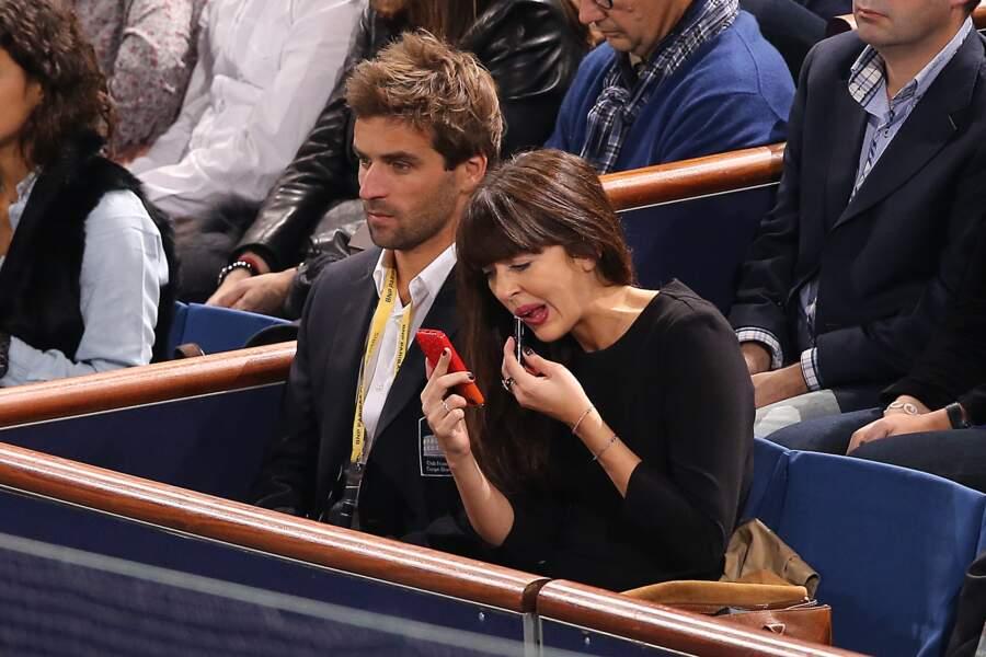 Nolwenn Leroy et Arnaud Clement à l'Open Masters 1000 de Tennis Paris Bercy, en 2013