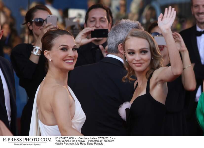 73th Festival du film de Venise -  premiere de  'Planetarium' Lily Rose Depp et Natalie Portman