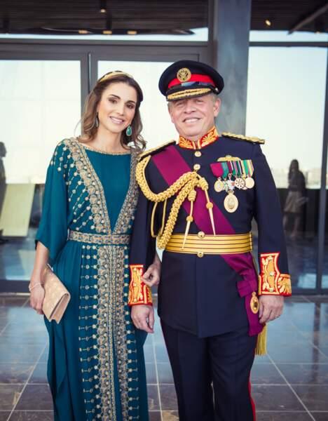 Le roi Abdallah II et La reine Rania de Jordanie à Amman le 2 juin 2016