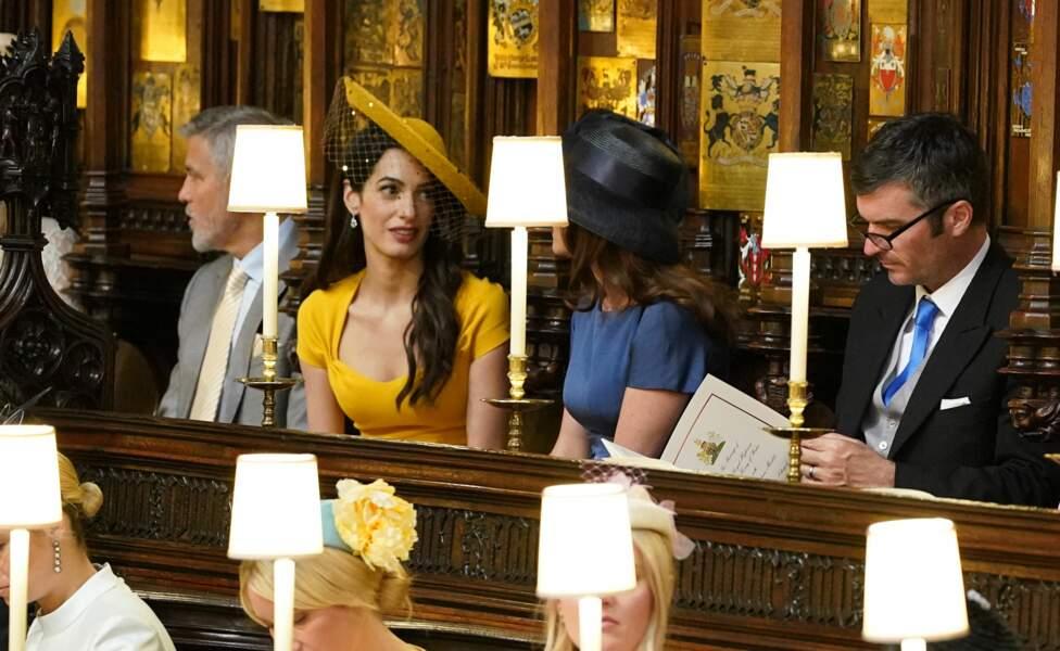 Le couple Clooney durant la cérémonie religieuse