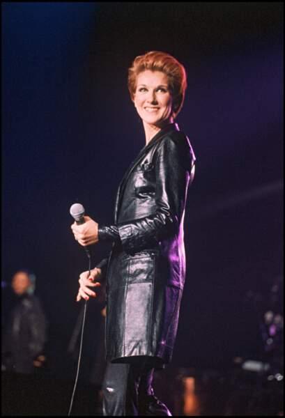 Céline Dion en concert à Wembley, en 1995