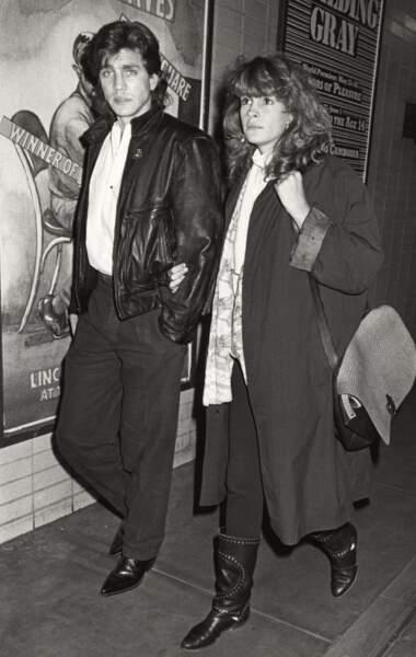 Avec son frère, le comédien Eric Roberts, en 1986 à New York