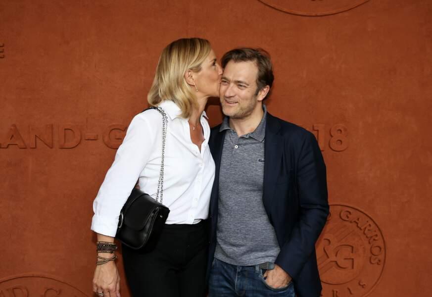Laurence Ferrari et son mari Renaud Capuçon au village de Roland Garros le 2 juin 2018