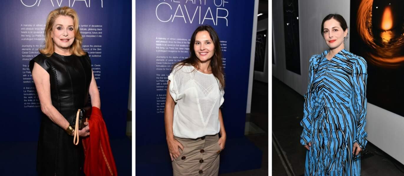 Les aficionadas de la marque : Catherine Deneuve, Virginie Ledoyen et Amira Casar.