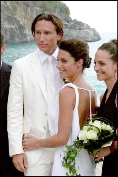 Alessandra Sublet et Thomas Volpi, complices après leur cérémonie religieuse