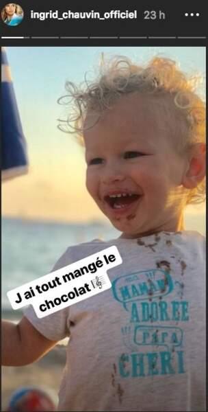 Une photo trop mignonne de Tom, le fils d'Ingrid Chauvin, 2 ans