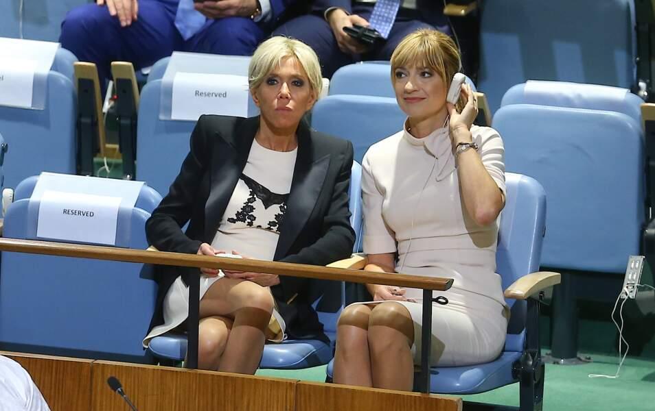 Son mari Emmanuel Macron a également donné un discours