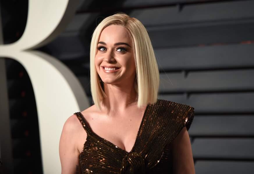 Katy Perry à la soirée Vanity Fair lors des Oscars en février 2017 à Los Angeles