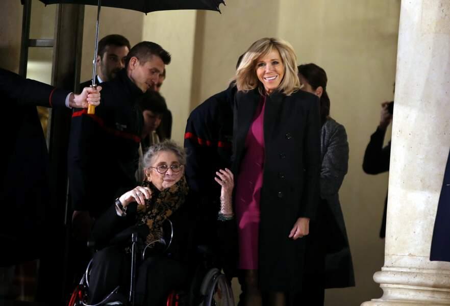 Brigitte Macron a rencontré la Première dame israélienne Nechama Rivlin ce 23 janvier à l'Elysée