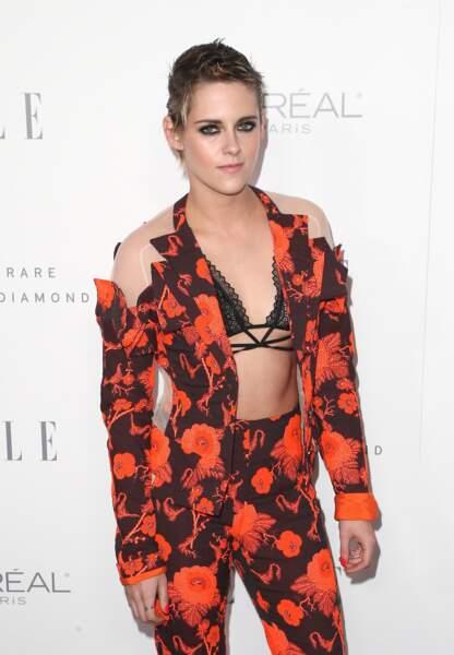 Kristen Stewart sublime à la soirée ELLE Women organisée ce lundi 16 septembre à Los Angeles.
