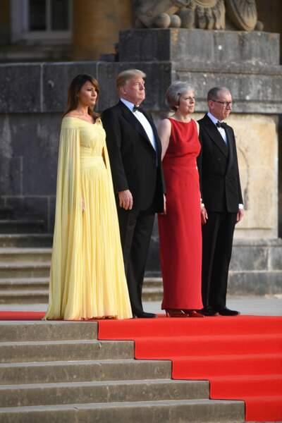 Melania Trump, Donald Trump, Theresa May et Philip May.