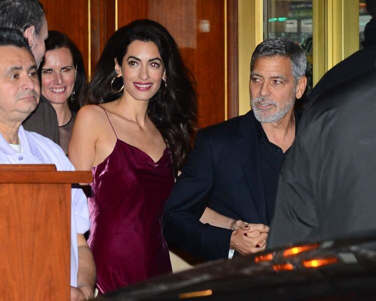 Jennifer Aniston célébrait ses 50 ans aux côtés d'Amal Clooney et George Clooney