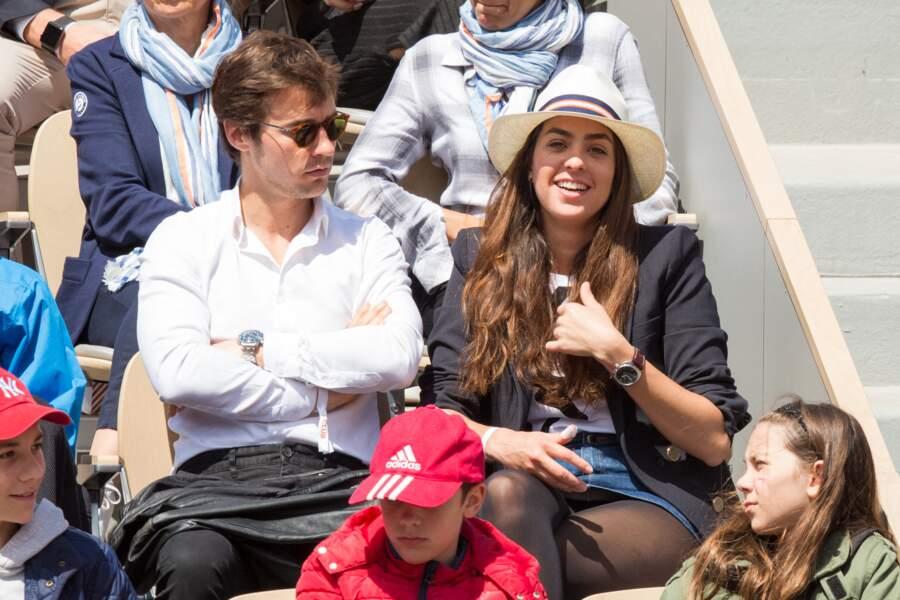 Anouchka Delon a assisté aux matchs de Roland Garros en compagnie de son amoureux Julien Dereims, le 8 juin 2019
