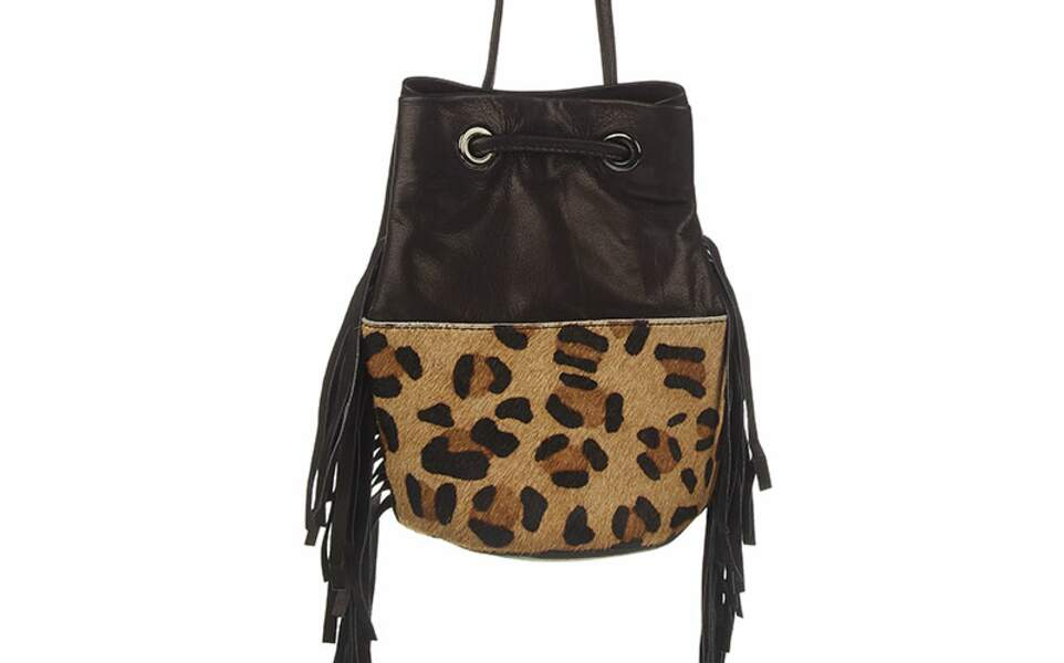 Sac seau léopard, Asos, 15,99€ au lieu de 39,99€