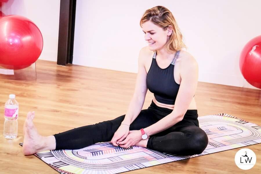 Séance de yoga avec Lucile Woodward