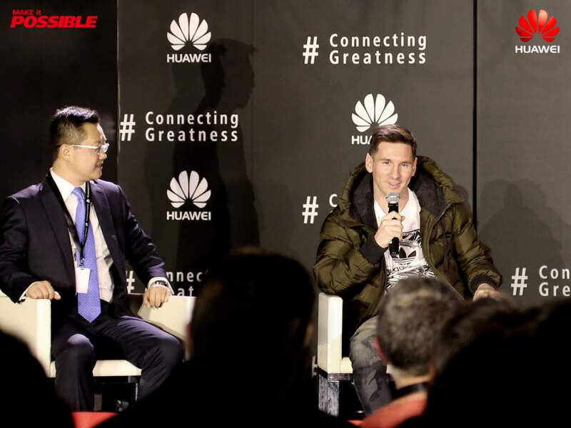 Lionel Messi pendant la conférence de presse