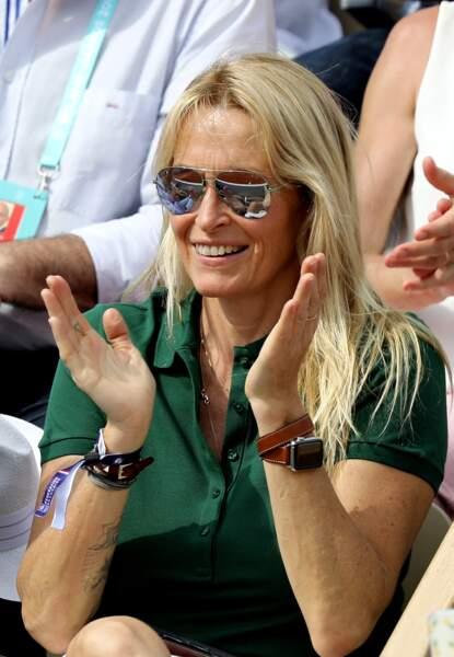 Estelle Lefébure a également assisté au match de Richard Gasquet, mais cette fois sans sa fille