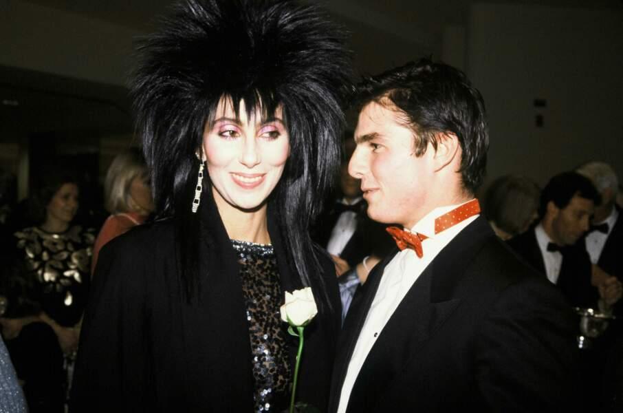 Cher et Tom Cruise à Washington en 1985