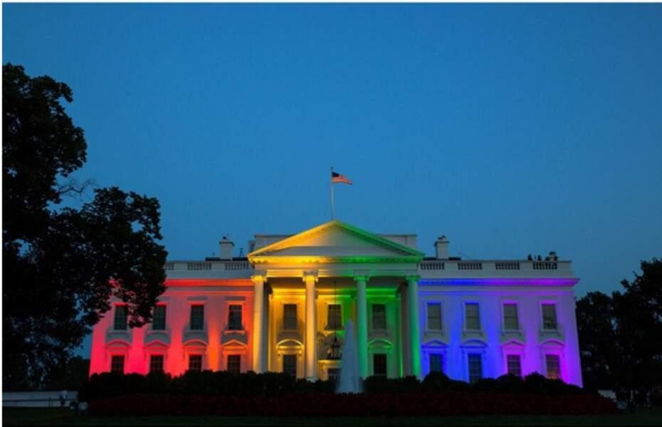 La Maison-Blanche aux couleurs arc-en-ciel
