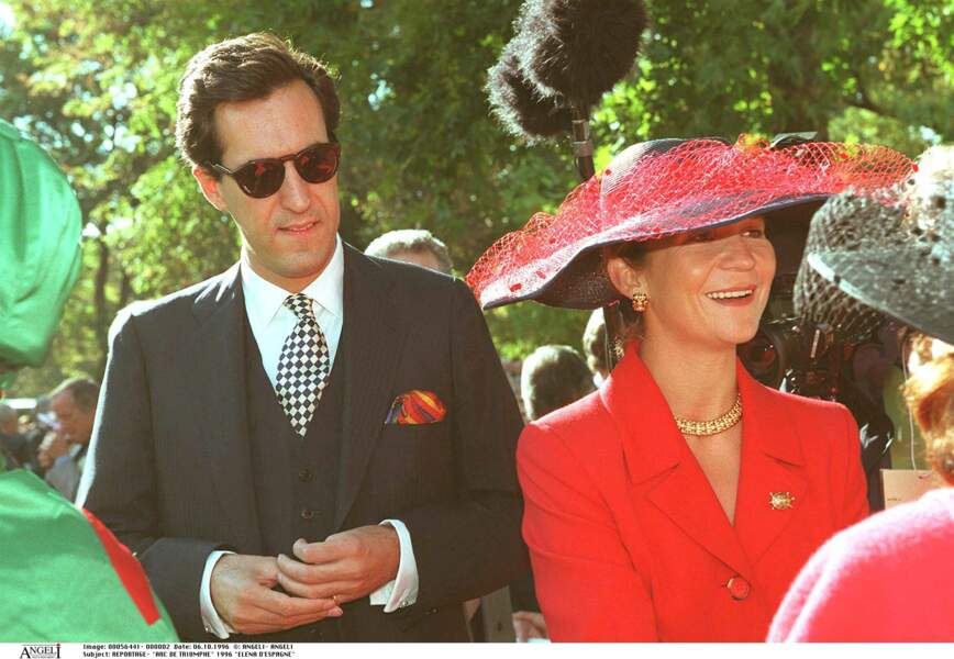 Elena d'Espagne a partagé la vie de Jaime de Marichalar. Ici, en 1996.