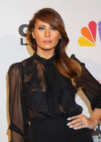 "Melania Trump lors de la finale de l'émission ""All Star Celebrity Apprentice"" àNew York, le 19 mai 2013"