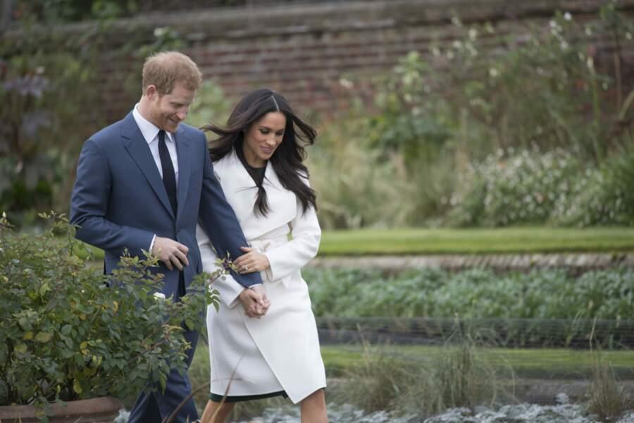 C'est plus précisément autour du Jardin blanc que Harry et William ont convoqué la presse et les photographes