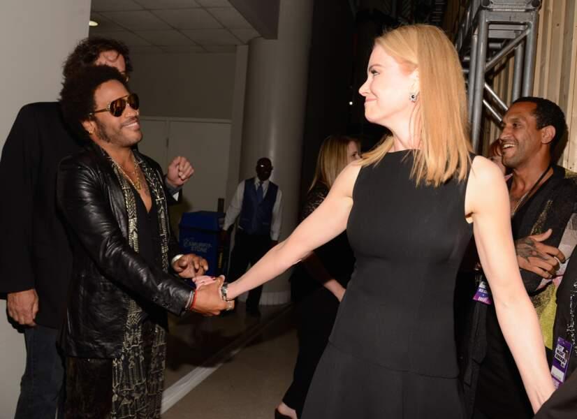 Lenny Kravitz et Nicole Kidman à Nashville en 2013