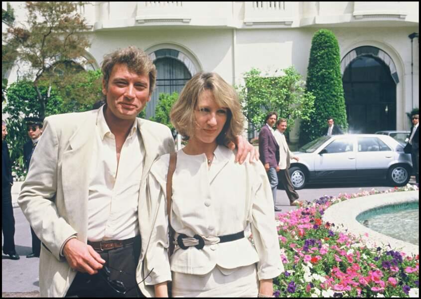 Johnny Hallyday et Nathalie Baye au festival de Cannes en 1984